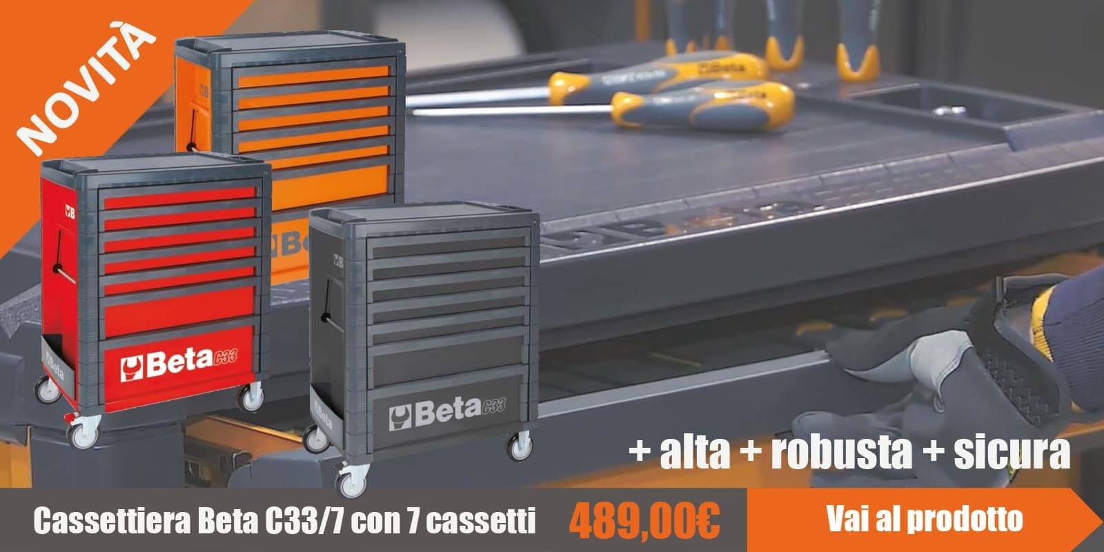 Carrello portautensili Beta a 7 cassetti in 3 colori