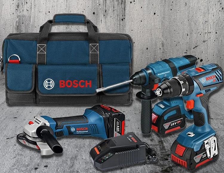 Promo kit Bosch martello, smerigliatrice e trapano con 3 batterie ora online a soli 571,99€