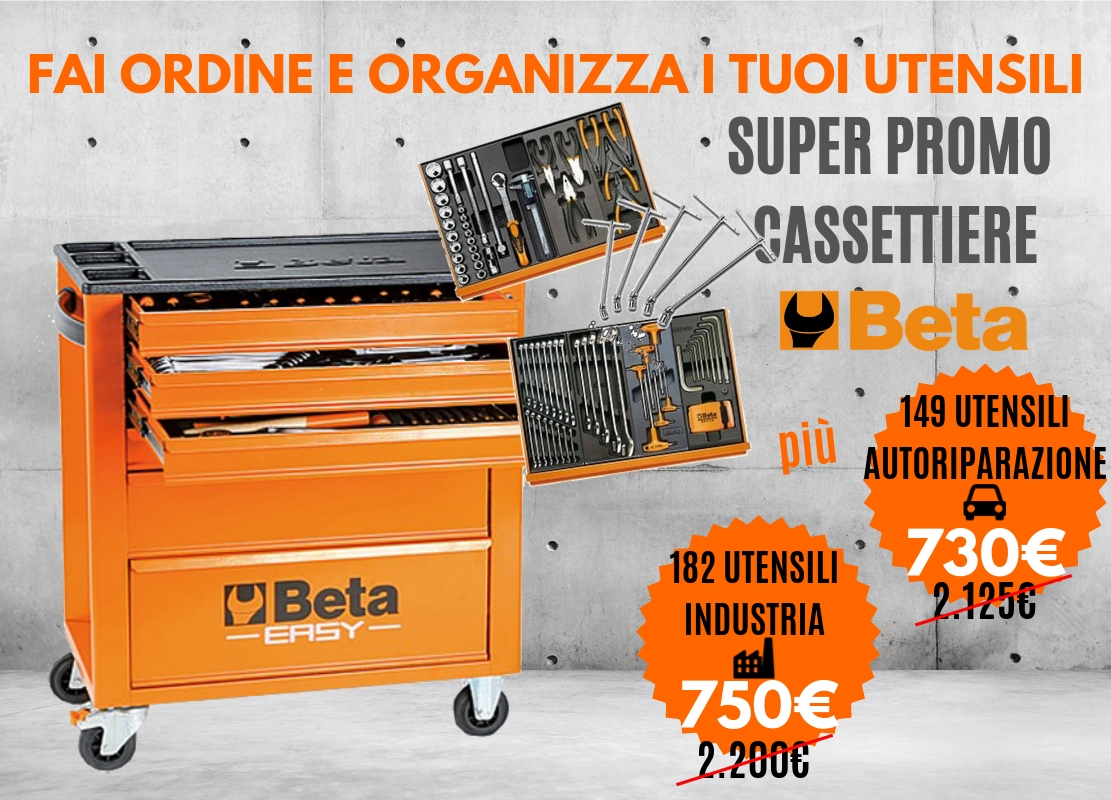 Promo cassettiere Beta 2019 per Industria e Autoriparazione con accessori