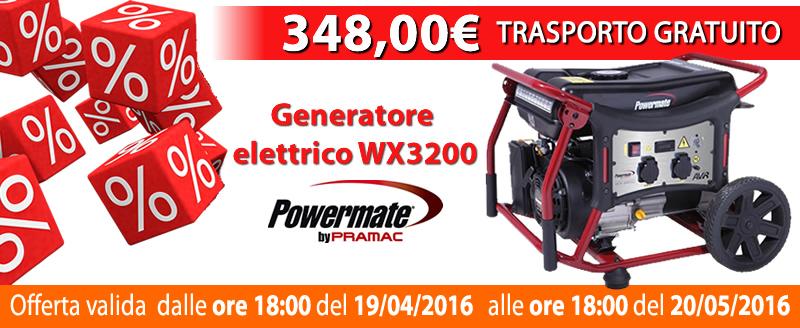 PROMO generatore elettrico WX 3200 TRASPORTO GRATUITO