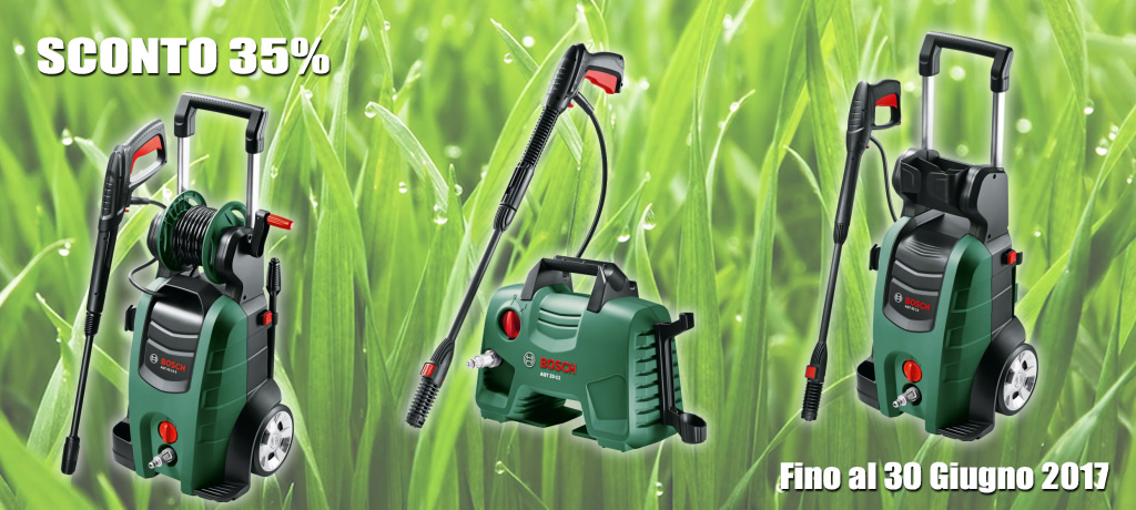 Promozione di primavera idropulitrici Bosch -35% su UtensileriaOnline.it
