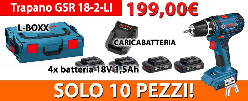 PROMO trapano Bosch GSR 18-2-LI