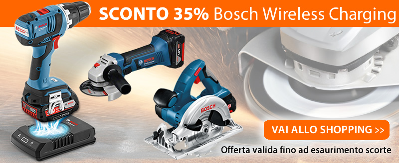 Sconto 35% Utensili BOSCH Wireless Charging System