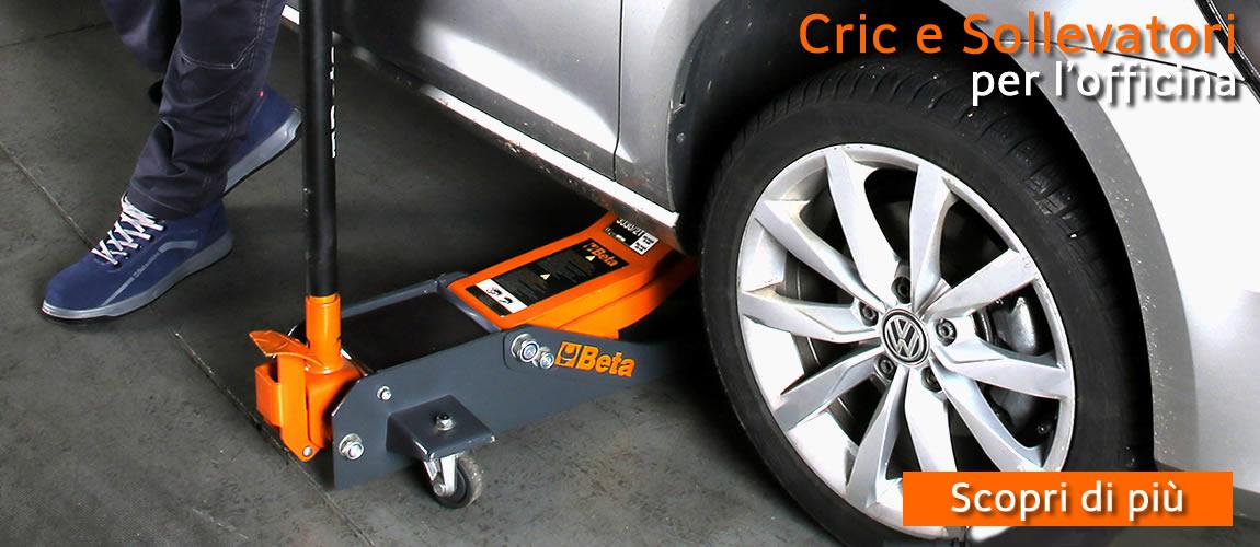 Sollevatore cric per auto Beta, indispensabile in officina, ora con extra sconto.