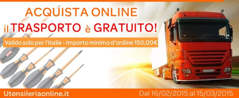 Utensileriaonline.it - Trasporto Gratuito sopra a 150,00�