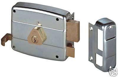 Serratura cisa 50421 destra 1 per porte in ferro zincata - Sbarra di sicurezza per porte ...