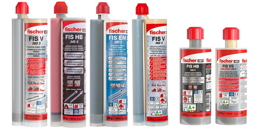 Lista ancoranti chimici Fischer adatti per utilizzo con pistola KFIS AP