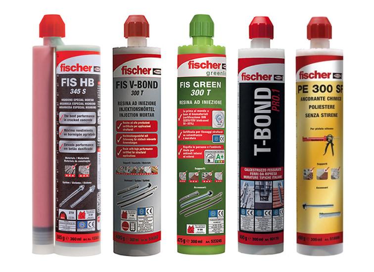 Lista ancoranti chimici Fischer adatti per utilizzo con pistola FIS AM-I
