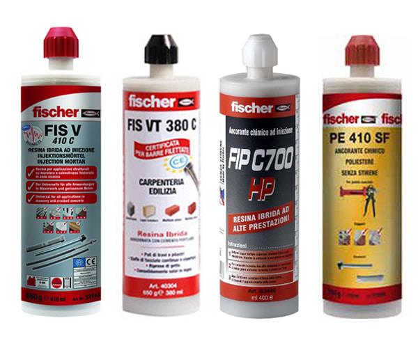 Lista ancoranti chimici Fischer adatti per utilizzo con pistola FIS AC