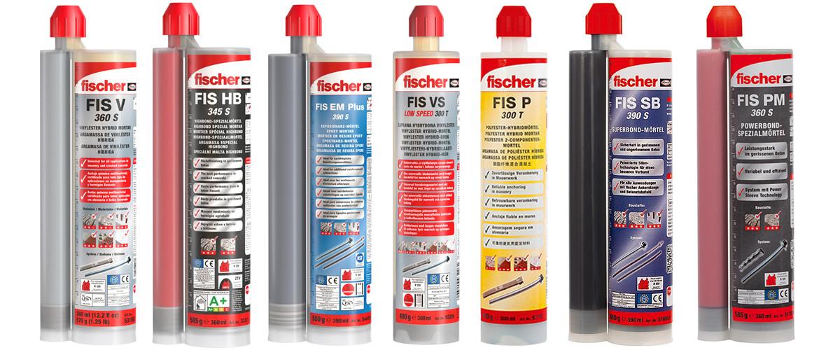 Lista ancoranti chimici Fischer adatti per utilizzo con pistola FIS DCD S