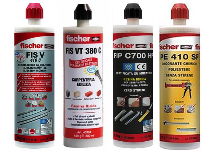 Lista ancoranti chimici Fischer adatti per utilizzo con pistola FIS DP C