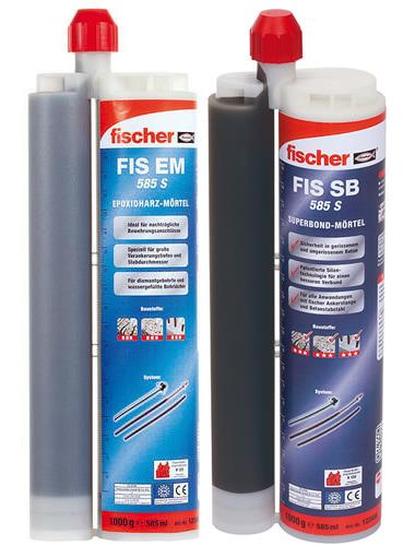 Lista ancoranti chimici Fischer adatti per utilizzo con pistola FIS DP S-L