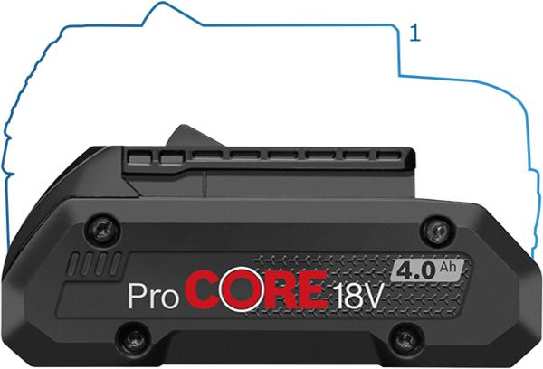 batteria Bosch ProCORE 4.0Ah