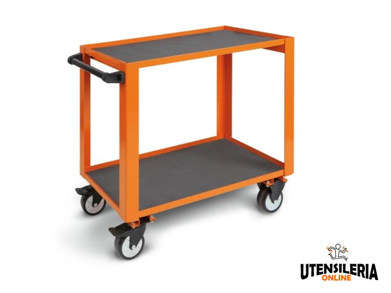 Carrello alta resistenza cp51 con 2 ripiani carico 750kg for Carrello porta ombrellone e sdraio
