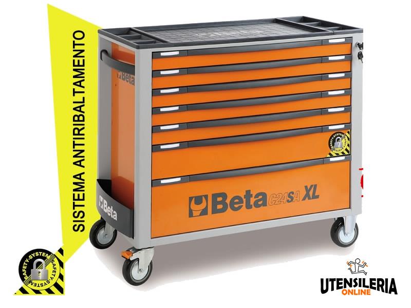 Cassettiera Con 7 Cassetti.Cassettiera Mobile Arancio C24sa Xl 7 Con 7 Cassetti Beta Guanti In Omaggio