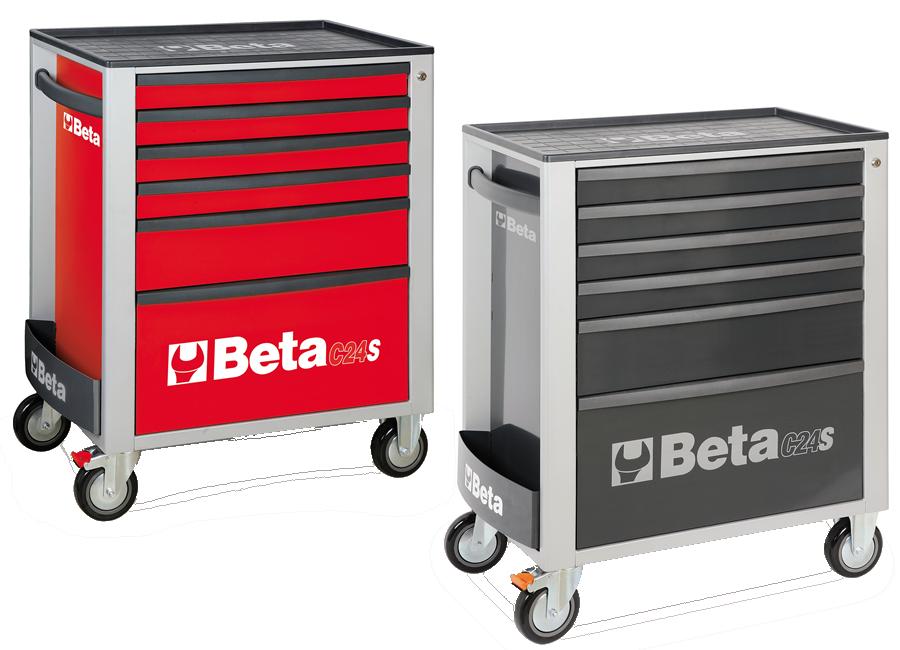 Cassettiere Beta C24S/6 con 6 cassetti modelli GRIGIO e ROSSO