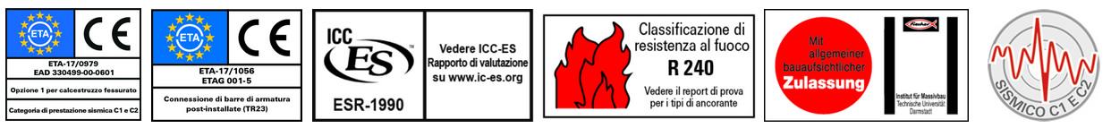 Certificazioni e riconoscimenti resina epossidica FIS EM Plus Fischer