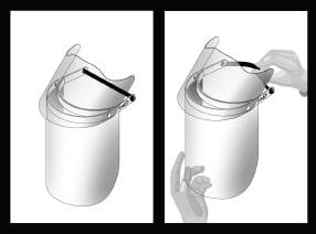 Come indossare la visiera Armadillo Glass