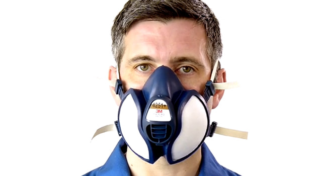 Maschera monouso 4251+ della serie 4000+