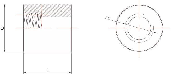 Dati tecnici Madrevite in acciaio cilindrica MAC
