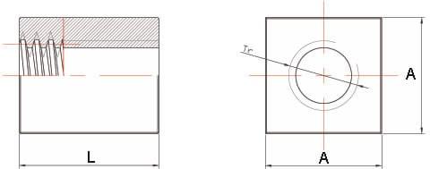 Dati tecnici Madrevite in acciaio quadra MAQ