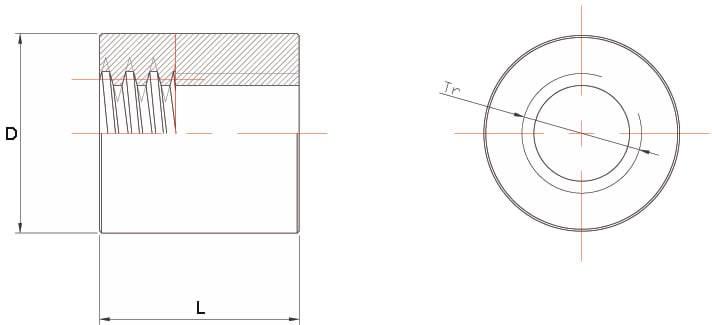Dati tecnici Madrevite in bronzo cilindrica MBC 2 principi
