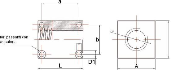 Dati tecnici Madrevite in bronzo preforate MBQF