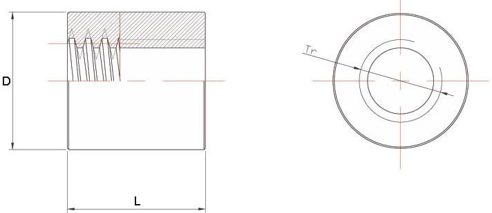 Dati tecnici Madrevite in acciaio cilindrica MAC 2 principi