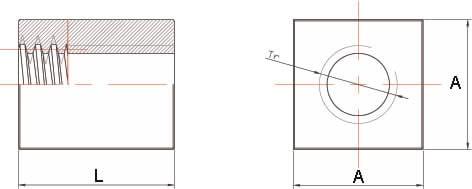 Dati tecnici Madrevite in acciaio quadra MAQ-2
