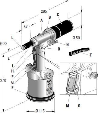 rivettatrice oleopneumatica RAC 181