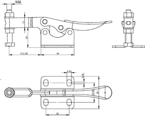 immagine dettagliata bloccaggio verticale SH-11