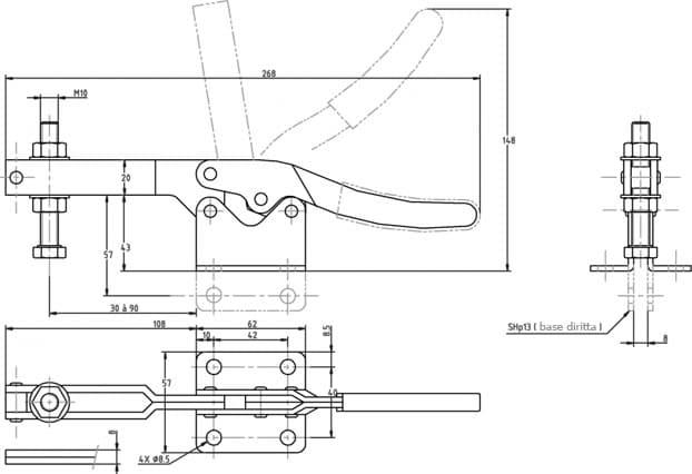 immagine dettagliata bloccaggio verticale SH-13