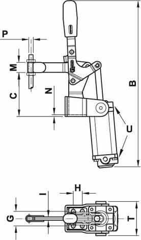 immagine dettagliata bloccaggio pneumatico 200/EPV3S