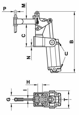 immagine dettagliata bloccaggio pneumatico 200/EPV3