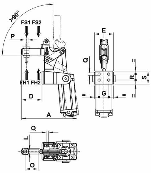immagine dettagliata bloccaggio pneumatico 300/APV3