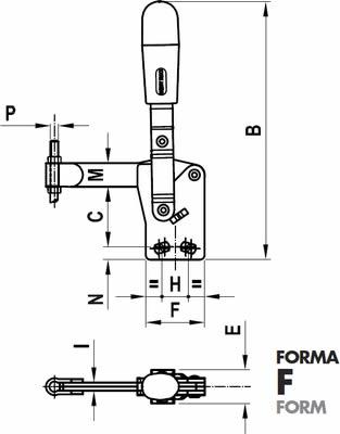 immagine dettagliata bloccaggio verticale 125/F