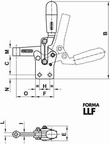 immagine dettagliata bloccaggio verticale rinforzato LLF01