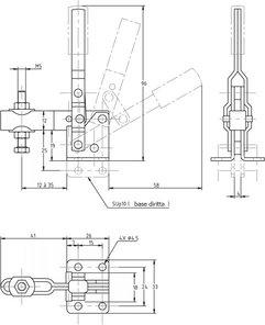 immagine dettagliata bloccaggio verticale SU-10