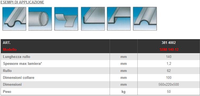 Dettagli e misure bordatrice manuale LTF