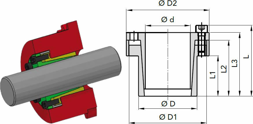 immagine dettagliata calettatore RCK80