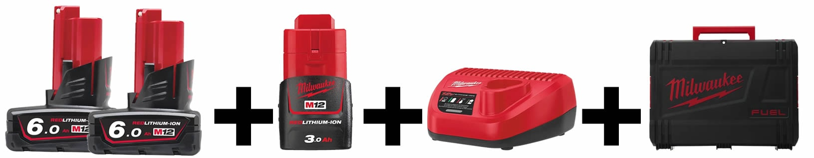 Dotazione KIT 12V Valigetta+Caricabatterie+Batterie