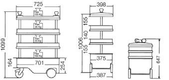 Dati tecnici Carrello 166 C ASSISTENT