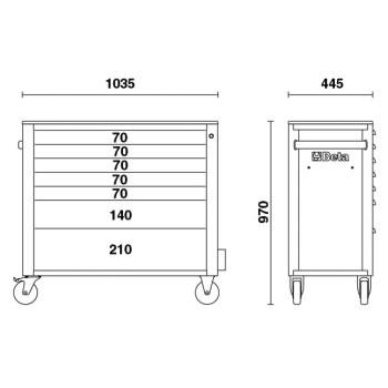Misure cassettiera Beta C24SA-XL/7