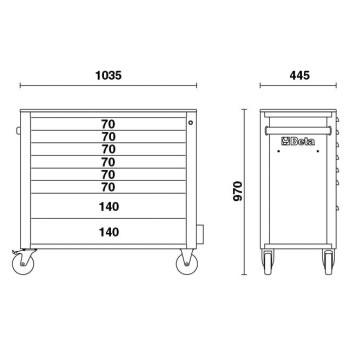 Misure cassettiera Beta C24SA-XL/8