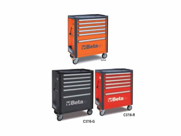 Beta carrello porta attrezzi C37 con 6 cassetti 588x367mm [037000061]