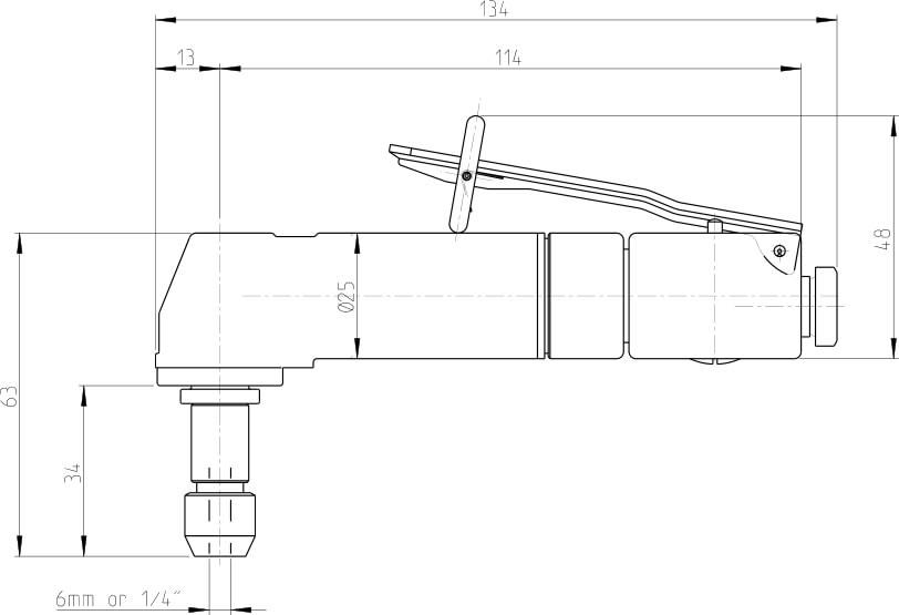 dimensioni smerigliatrice G2445