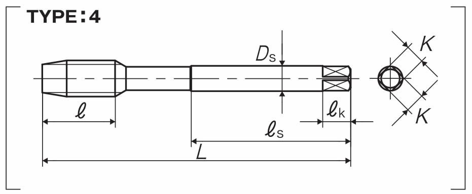 dettagli dimensioni maschio PO-VA yamawa