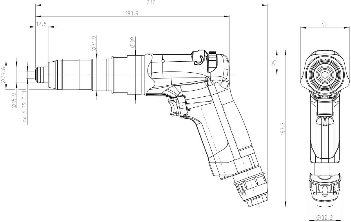 dimensioni cacciavite S2308-C