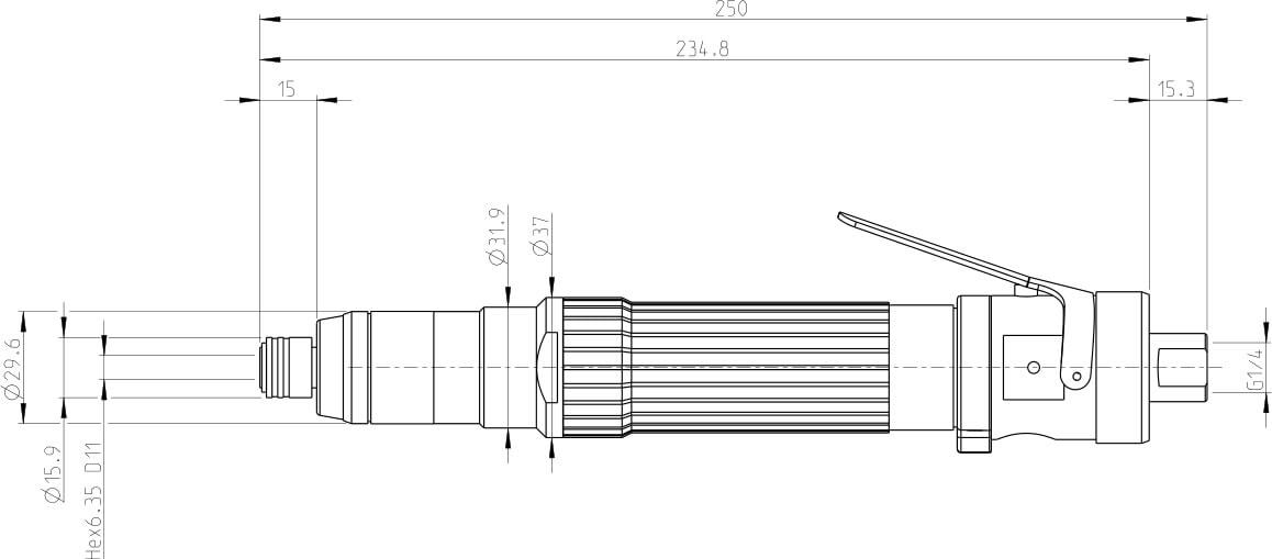 dimensioni cacciavite S2370-C