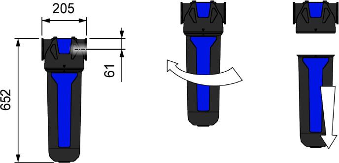 dimensioni filtro AF1560